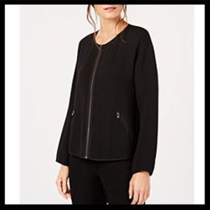 Eileen Fisher Zip Front Jacket